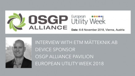 Interview with ETM MÄTTEKNIK AB, Device Sponsor, OSGP Alliance Pavilion, European Utility Week
