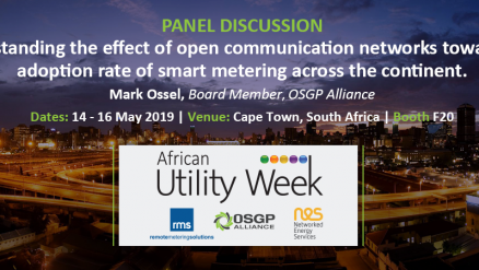 Interview Mark Ossel, Moderator and Panelist African Utility Week 2019
